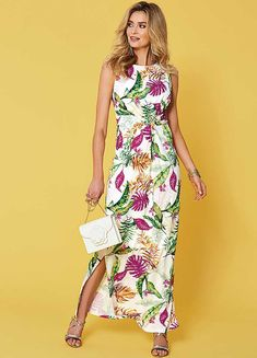 Twist Front Tropical Maxi Dress by Kaleidoscope Summer Holiday Dresses, Summer Maxi, Summer Dresses, Shift Dresses, Maxi Dresses, Linen Dresses, Casual Dresses, Floral Maxi Dress, Lace Dress