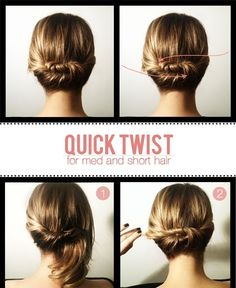 This hairstyle is sweet and simple! I'll have to try this instead of my usual ponytail as a second day hairstyle!