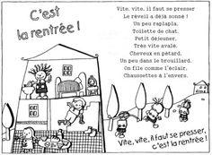"""GS-CP : Poésie """"C'est la rentrée"""""""
