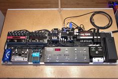 St. Vincent's pedalboard. Darn near the neatest pedalboard I have ever seen.