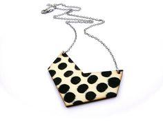 Polka dot necklace chevron by TheSkinnyThicket on Etsy