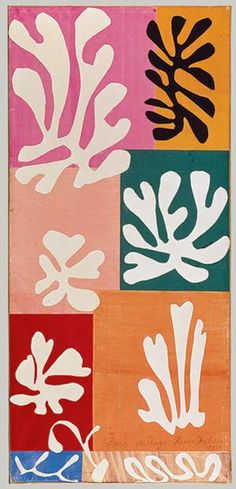 """Flowers """"Snow Flowers"""" in 1951 by Henri Matisse. Watercolor and gouache on cut and pasted papers.""""Snow Flowers"""" in 1951 by Henri Matisse. Watercolor and gouache on cut and pasted papers. Henri Matisse, Matisse Kunst, Matisse Art, Matisse Drawing, Art History Lessons, Art Lessons, Painting Lessons, Matisse Pinturas, Matisse Paintings"""