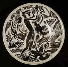 'Leda and the Swan', designed by Viktor Schreckengost (American, 1906-2008), made at Cowan Pottery Studio  1931-1932