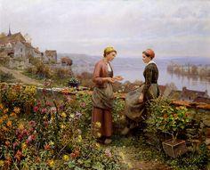 Confiança - Daniel Ridgway Knight e suas mais belas pinturas