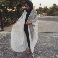 Islamic Fashion, Muslim Fashion, Modest Fashion, Fashion Outfits, Hijab Dress, Hijab Outfit, Hijab Moda, Hijab Jeans, Mode Kimono