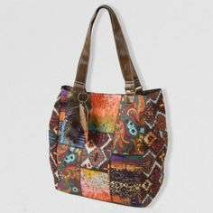Boho patchwork tote bag is perfect for all your books