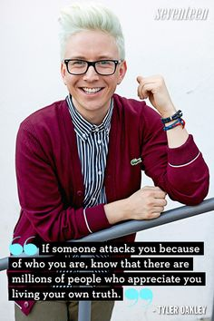 7 Most Inspiring Celeb Quotes About Bullying Tyler Oakley