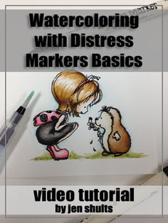 Watercoloring with Distress Markers Basics Video Tutorial