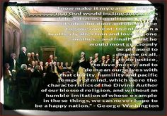 THAT THOSE IN OUR NATION WILL ACT IN THE FRUIT IF THE HOLY SPIRIT... WITHOUT OUR RELIGION WE CAN NOT MAKE IT AS A NATION... A SPEECH BY GEORGE WASHINGTON