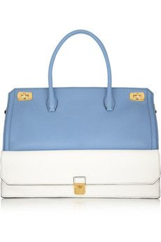 Love this bag!!!    Miu Miu Shopping two-tone textured-leather tote | NET-A-PORTER