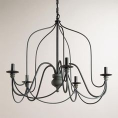 Simple and perfect! Not sure where I want to use these because I can see it in so many places... dining room (2), kitchen, over the bathtub? Rustic Wire Chandelier $169