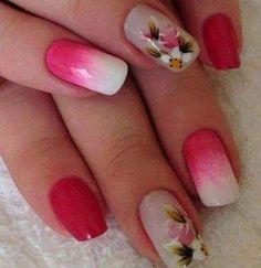 unhas decoradas com rosas - 05