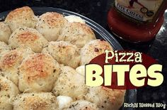 Richly Blessed: Pizza Bites {Football Food}