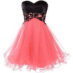 Dresstells Short Prom Dresses 2015 Homecoming Dress for Women ($100) ❤ liked on Polyvore