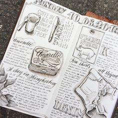 Nicnillas ink journal pages #journal #travelersnotebook #artjournal #illustration #drawing