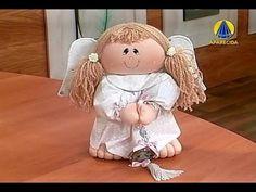 ▶ Sabor de Vida Artesanatos   Anjo Orando - 30 de Outubro de 2012 - YouTube Doll Crafts, Diy Doll, Felt Angel, Doll Making Tutorials, Plushie Patterns, Angel Crafts, Clay Dolls, Child Doll, Soft Dolls
