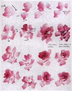 "Photo from album ""Розы"" on Yandex. Sumi E Painting, China Painting, Watercolor Drawing, Watercolor Flowers, Watercolor Paintings, Chinese Painting Flowers, Japanese Painting, Japanese Art, Chinese Drawings"