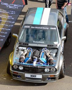 Max Marshall Racing BMW with a twin-turbo L Max Marshall Racing BMW mit einem T Bmw E30 M3, Bmw Alpina, Carros Bmw, Bmw Classic Cars, Bmw Series, Tuner Cars, Modified Cars, Twin Turbo, Bmw Cars