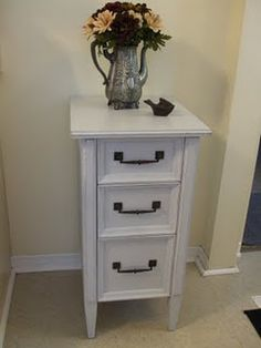 Turn old sewing machine drawers into stand alone drawers.