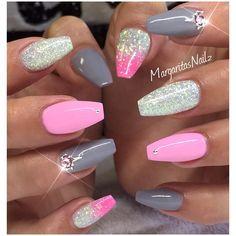✨✨#GelNails #coffinnails #MargaritasNailz #nails #nailfashion #summernails #nailsmagazine