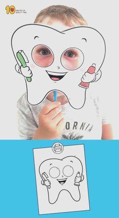 Tooth Mask Printable Template Health Adults Health For Kids Health Kindergarten Care Clean Teeth Care Display Care Routine Dental Kids, Dental Care, Dental Health Month, Health Activities, Healthy Teeth, Healthy Habits, Pre School, Preschool Activities, Preschool Food