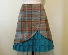This listing is reserved for Savannah This skirt is made out of warm, thick wool sure to keep you warm on a cool and crisp autumn day. The wool