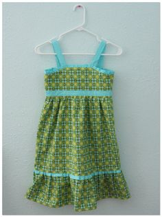 Sundress with empire waist and ruffle