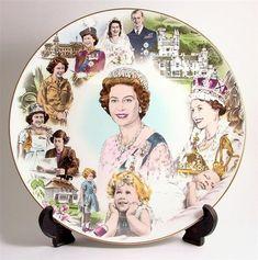 Coalport Queen Elizabeth's 60th birthday plate