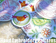 Hand Embroidery Designs Birds