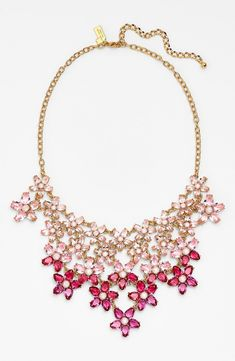 'ombré bouquet' crystal statement necklace by kate spade new york - Found on HeartThis.com @HeartThis | See item http://www.heartthis.com/product/313710510843302010/