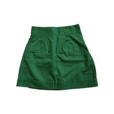 Pre-owned MADAME A PARIS Green Cotton Skirt (€33) ❤ liked on Polyvore featuring skirts, bottoms, long cotton skirts, green maxi skirt, green cotton skirt, green skirt and madame a paris