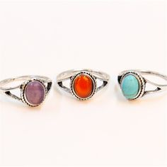 Fashion antiqued silver rings, natural turquoise rings, natural agate red purple stone rings for women, wholesale free shipping♦️ B E S T Online Marketplace - SaleVenue ♦️ http://www.salevenue.co.uk/products/fashion-antiqued-silver-rings-natural-turquoise-rings-natural-agate-red-purple-stone-rings-for-women-wholesale-free-shipping/ US $6.99