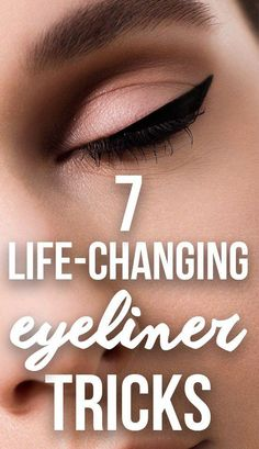 4 Life-Changing Eyeliner Tricks Every Woman Should Know  Find out which life-changing eyeliner tricks every woman should know to create winged eyeliner and other eyeliner looks on SHEFinds.com. #EyelinerWaterline