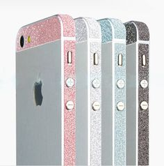 Glitter Bling Bumper Side Stickers for Iphone 5 by puredelusions, $3.99