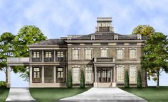 This neoclassical estate entertains a sense of mystery and excitement in its facade, and a life of pure luxury inside.