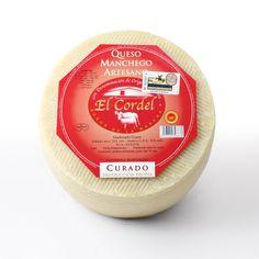 QUESOS EL CORDEL : El Cordel - Curado 3,3 kg Tostadas, Queso Manchego, Raw Milk