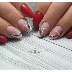 24 + beige french design of short nails Sexy Nail Art, Elegant Nail Art, Toe Nail Art, Manicure Nail Designs, Diy Nail Designs, Nails Design, Holiday Nails, Christmas Nails, Nail Art Arabesque