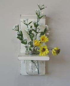 Country Cottage Mason Jar Wall Sconce