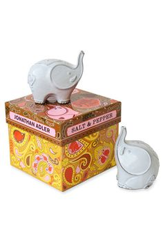 I Love Elephants! Jonathan Adler - Elephant Salt and Pepper Shakers!