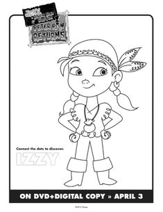 Jake The Neverland Pirates Printable Izzy Coloring Sheet