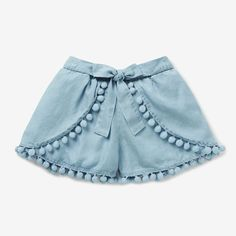 Girls shorts, ruffled shorts sewing pattern by Felicity Patternsskort for children Baby Outfits, Baby Girl Dresses, Baby Dress, Kids Outfits, Summer Outfits, Cute Outfits, Cute Baby Clothes, Doll Clothes, Jupe Short
