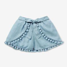 Girls shorts, ruffled shorts sewing pattern by Felicity Patternsskort for children Girls Frock Design, Baby Dress Design, Baby Girl Dress Patterns, Frocks For Girls, Kids Frocks, Dresses Kids Girl, Baby Outfits, Kids Outfits, Cute Outfits