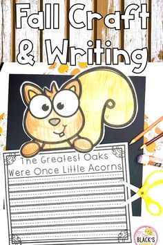 Are you looking for Fall themed resources, lessons, ideas or activities?  Students in Kindergarten, First and Second grades will love this fun activity that is perfect for fall.  Students will enjoy coloring the squirrel, responding through writing and then cutting and pasting the craft together.  This activity makes a beautiful display for hallways, classroom doors, bulletin boards and more.  Parents will love this as well.  This activity can be printed and sent for distance or virtual as… Fall Crafts, Crafts To Make, Black Bee, Little Acorns, Classroom Door, Cut And Paste, Autumn Theme, Hallways, Second Grade