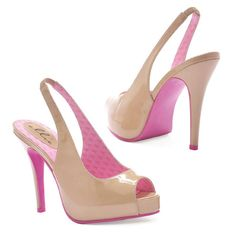 Check these out! Nude patent peeptoe slingbacks...and reasonably priced.  I'm getting a pair!