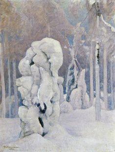 Pekka Halonen, Kinahmin Talvea (Winter in Kinahmi), 1923, The Life and Art of Pekka Halonen - from http://www.alternativefinland.com/art-pekka-halonen/