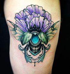 jewel tattoos | grasshopper tattoo