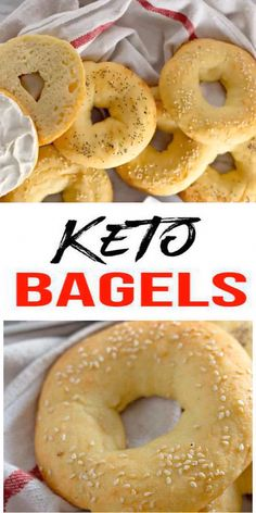 {Keto Bagel} Yummy low carb bagels everyone will love! No need to give up bagels on a ketogenic diet. Make this easy keto bagel recipe w/ fathead dough. Spread on cream cheese, sweet bluebery or straw Keto Bagels, Low Carb Bagels, Low Carb Keto, Keto Biscuits, Ketogenic Diet Meal Plan, Diet Plan Menu, Diet Meal Plans, Ketogenic Recipes, Low Carb Recipes