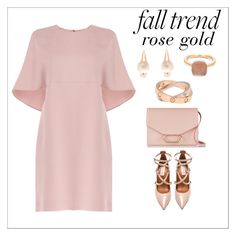 """""""Rose gold"""" by simona-altobelli ❤ liked on Polyvore featuring Valentino, Pomellato, Victoria Beckham, Cartier, rosegold, polyvorecontest and falltrend"""