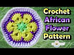 Crochet African Flower Hexagon Tutorial - YouTube