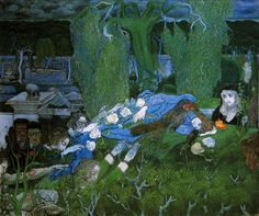 Jan Toorop, The Vagabonds Rijksmuseum Kröller-Müller, Otterlo Date: 1891 Technique: Oil on canvas, 65 x 76 cm Art Nouveau, Museum, Post Impressionism, Art Database, Tarot, Jaba, Great Artists, Les Oeuvres, Painting & Drawing
